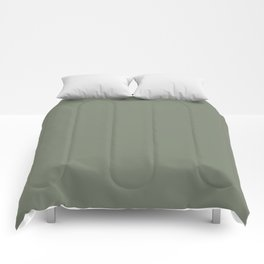 Mellow Earth Green Pairs with Magnolia Paints Olive Grove JG-09 Comforters