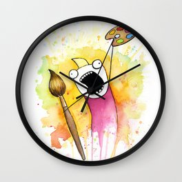 Meme Painting Wall Clock
