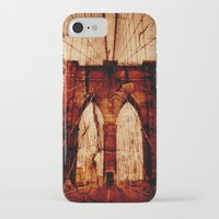 brooklyn bridge iPhone & iPod Cases featuring Brooklyn Bridge by Del Vecchio Art by Aureo Del Vecchio