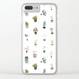 plants in pots Clear iPhone Case