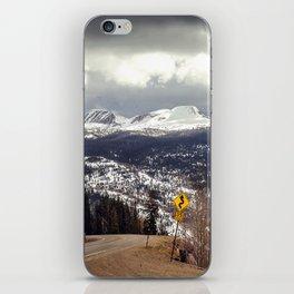Curvy Road Ahead iPhone Skin