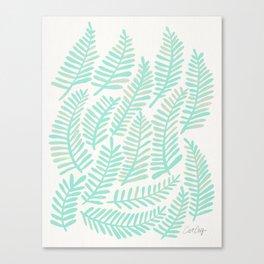 Fronds – Mint Green Palette Canvas Print