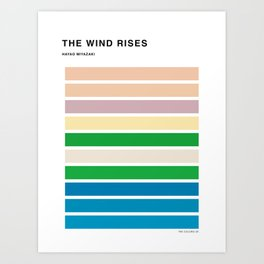 The Colors of the wind rises Art Print