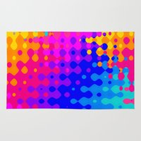 hippy Area & Throw Rugs featuring Totally Psychedelic Hippy Pattern by Kirsten Star