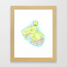 Cowabunga Dude! Framed Art Print