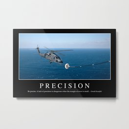 Precision: Inspirational Quote and Motivational Poster Metal Print