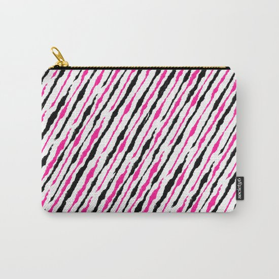 Pink and Black Pattern Carry-All Pouch