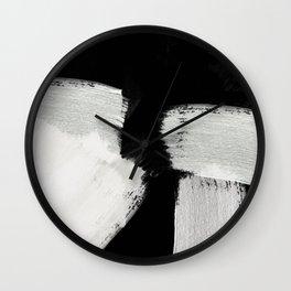 brush stroke black white painted Wall Clock