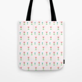 Cute Tulip Pattern Tote Bag