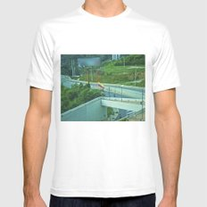 The endless view. White Mens Fitted Tee MEDIUM