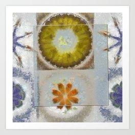 Heronbill Content Flower  ID:16165-155700-92131 Art Print