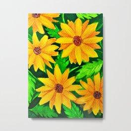 Topolino Sunflowers Metal Print
