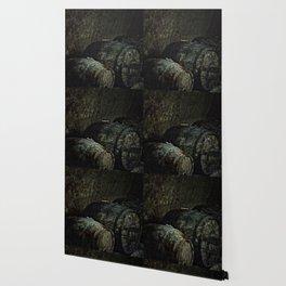 Barrels dark painterly Wallpaper