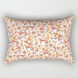Fox Pattern Rectangular Pillow