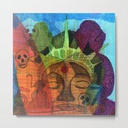 Buddha Liberty Metal Print