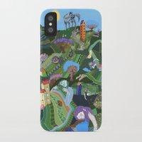 giants iPhone & iPod Cases featuring Sleeping Giants by Valeriya Volkova
