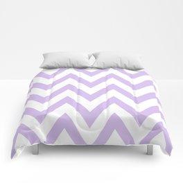 Lavender & White Chevron Comforters
