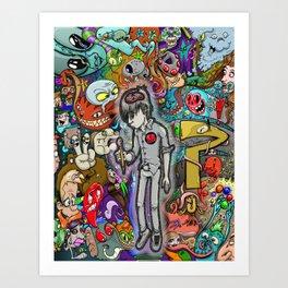 Sleeping creativity Art Print