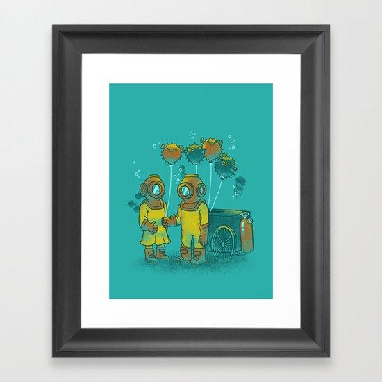 the BalloonFish Vendor Framed Art Print