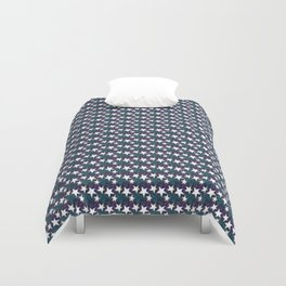 Project 96 | Stars | Dark Teal and Purple Version Duvet Cover