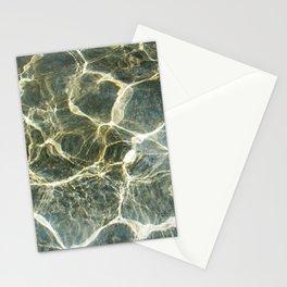 Golden Ripples Jade Sea Stationery Cards