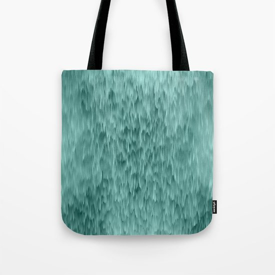 mint abstract rain Tote Bag