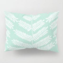 Mint Leaflets Pillow Sham
