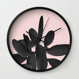 Black Blush Cactus #2 #plant #decor #art #society6 Wall Clock