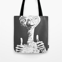 et Tote Bags featuring ET by danielabbart