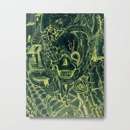 Scull world Metal Print