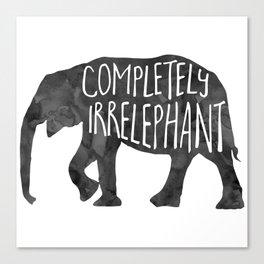 Completely Irrelephant Canvas Print