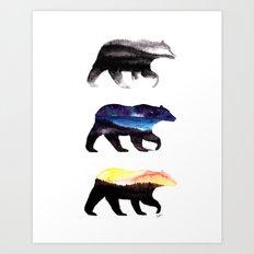 3 Bears Art Print