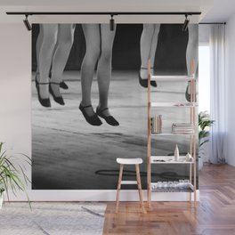 Live with both feet off the ground, inspirational dance black and white photography - photographs Wall Mural