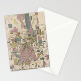 Vintage Map of Houston Texas (1895) Stationery Cards