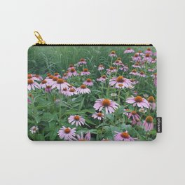 Bee in the Echinacea Carry-All Pouch