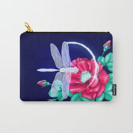 Full bloom | Dragonfly loves roses Carry-All Pouch