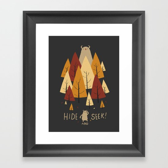 hide and seek Framed Art Print