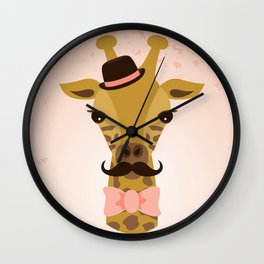 Happy Mother's Day ~ Giraffe Wall Clock