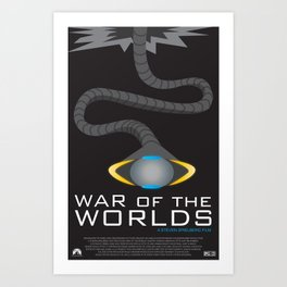 War of the Worlds Movie Poster Art Print