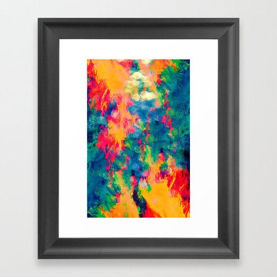Summer Swirl Framed Art Print