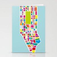 manhattan Stationery Cards featuring Manhattan by Glen Gould