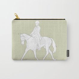 Dressage in Green Carry-All Pouch
