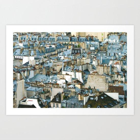Toits de Paris Art Print