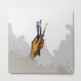 Painter's Hand Metal Print