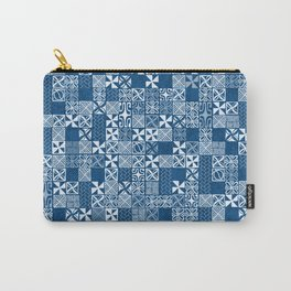 Oceanic Classic Blue Tapa Carry-All Pouch