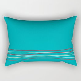 Multi Colored Scribble Line Design Bottom V5 Rustoleum 2021 Color of the Year Satin Paprika & Accent Rectangular Pillow