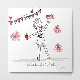 Sweet Land of Liberty Metal Print