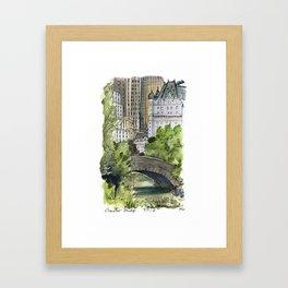 Central Park: Gapstow Bridge Framed Art Print
