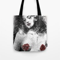 milk Tote Bags featuring Mother's Milk by Fresh Doodle - JP Valderrama
