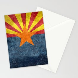 State flag of Arizona in Vintage Grunge Stationery Cards